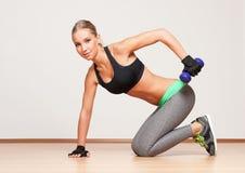 Blond fitness girl. Stock Images