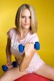 blond fitness kobieta fizycznej Zdjęcie Stock