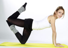 Blond fitness sport girl Royalty Free Stock Image