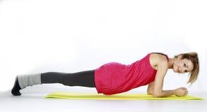 Blond fitness sport girl Stock Photos