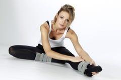 Blond fitness sportmeisje Stock Afbeelding