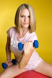 Blond Fitness Woman Stock Photo