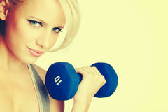 Blond Fitness Woman Stock Photos
