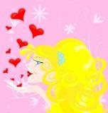 blond flicka Royaltyfria Bilder