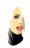 blond flicka stock illustrationer