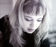 blond flicka Arkivbilder