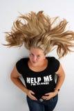 blond flicka Arkivbild