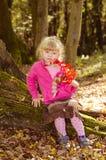 Blond flicka i mest forrest Royaltyfri Fotografi