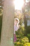 Blond flicka i mest forrest Fotografering för Bildbyråer