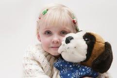 blond flicka little Royaltyfri Fotografi