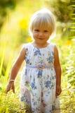 blond flicka little Arkivbild