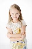 Ung blond flicka Arkivbild