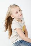 Flicka i studio royaltyfri bild
