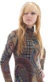blond flickastående royaltyfri foto