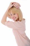 blond flickastående Arkivbild