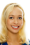blond flickastående för skönhet Royaltyfri Bild