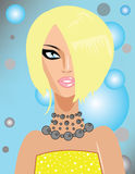 blond flickastående s Royaltyfri Bild