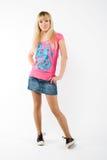 blond flickawhite Royaltyfri Bild
