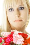 Blond with flowers Stock Photo