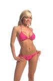 blond fusha för bikini Royaltyfria Bilder