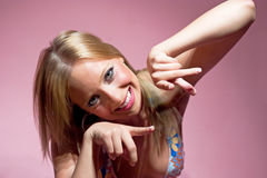 Blond girl Royalty Free Stock Images