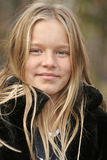 Blond girl. Young girl with messy blond hair taken with narrow DOF Stock Photos