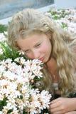 Blond girl stock image