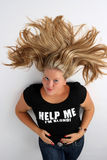 Blond  girl. Help me I am blond Stock Photography