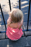 Blond girl back view Stock Photography