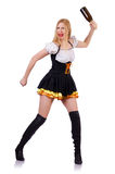 Blond girl in bavarian traditional costume Stock Photo