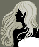 Blond girl with beautiful hair Royalty Free Stock Image