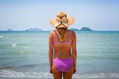 Blond girl in bikini Stock Image