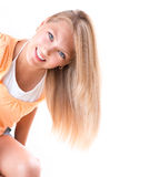 Blond Girl with Blue Eyes Stock Photos
