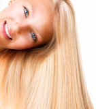 Blond Girl with Blue Eyes Royalty Free Stock Photo