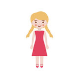 Blond girl with braided hair and dress Royalty Free Stock Photo