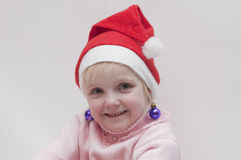 Blond girl. Christmas theme Royalty Free Stock Photos