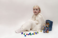 Blond girl. Christmas theme Stock Photography