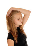 Blond girl dreaming with closed eye's. Stock Images