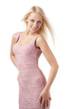 Blond girl in a dress Royalty Free Stock Images