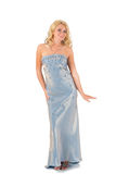 Blond girl in evening dress Stock Photo