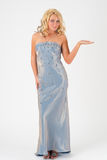 Blond girl in evening dress Stock Photography
