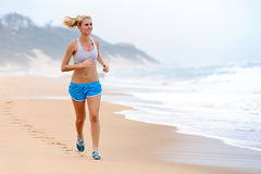 Blond girl exercises Stock Photo
