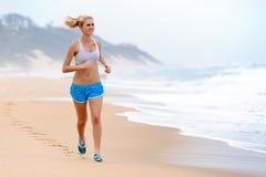 Blond girl exercises Stock Photo