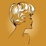 Blond girl face Stock Image