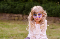 Blond girl with facepainting royalty free stock photos