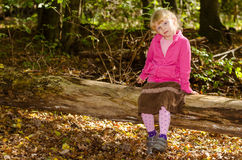 Blond girl in forrest Stock Image