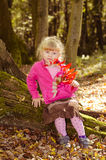Blond girl in forrest Royalty Free Stock Photography