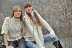 blond girl girlfriend Stock Images