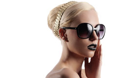 Blond girl with hair style Royalty Free Stock Photography