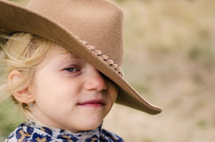 Blond girl with hat Royalty Free Stock Photos